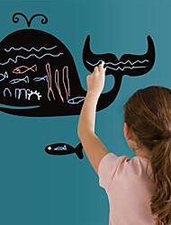 Blackboard наклейки наклейки для стен, мультфильм китов дети DIY доска наклейки стены PVC