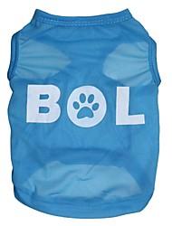 Katzen / Hunde T-shirt Blau Hundekleidung Frühling/Herbst Buchstabe & Nummer