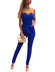 Women's Sexy V-Neck Strapless Jumpsuit