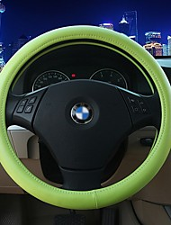 LEBOSH™ High Quality Ultra-fine Fiber Leather Fluorescent Green Steering Wheel Cover