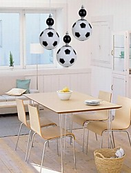 Classic  Restaurant Modern Football Round Pendant Lights 3 Lights