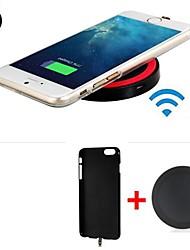 qi récepteur du chargeur sans fil standard couverture arrière + émetteur sans fil pour iphone 6 6s / iphone
