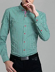 мужская Yi бен сращивания клетчатую рубашку