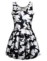 Mini - Vestido - Sensual/Impresión - Nylón