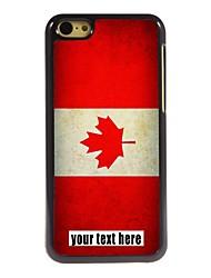 caixa personalizada bandeira canadense caso design de metal para iphone 5c