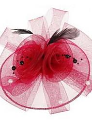Fashion 5-Colors Feather Grenadine Pearl Barrettes For Women