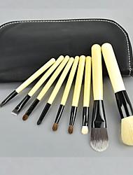 9 pcs definir escova cosméticos compõem kit ferramenta