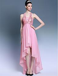 Sheath/Column Strap Knee-length Tulle Cocktail Dress(Purple)