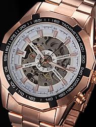 FORSINING Мужской Наручные часы Механические часы С гравировкой С автоподзаводом Нержавеющая сталь Позолоченное розовым золотом Группа