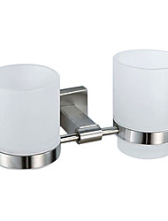 Contemporary Nickel Brushed Finish 304 Stainless Steel Toothbrush Holder