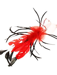 Fashion 5-Colors Feather Grenadine Barrettes For Women