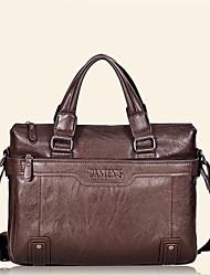 New men's leather handbag shoulder bag European and American oil wax business computer bag diagonal package