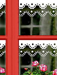 """55 * 10cm (22 """"w * 4"""" l) fenêtre dentelle taille autocollants"""