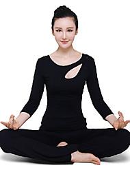 sexy yoga negro juegos de la ropa de la aptitud de las mujeres
