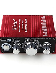 mini-alliage d'aluminium 2-canaux amplificateur de voiture de la maison 100w salut-fi stéréo - rouge (12V DC)