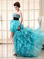 Formal Evening Dress - Fuchsia / Jade Plus Sizes / Petite Princess Sweetheart Asymmetrical
