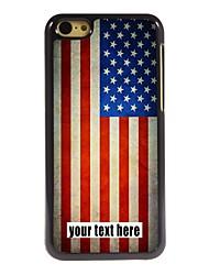 персонализированные корпус Металлический корпус американский дизайн флага для iPhone 5с