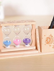 """3.9""""H Modern Style Pen Hourglass Glass  Collectible(Random Delivery)"""