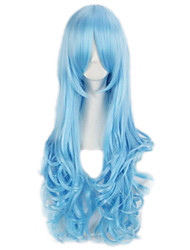 Cosplay Club Party Wig Colorful Pop Long Wave Synthetic Hair Wig For Ladies