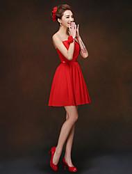 Short/Mini Bridesmaid Dress - Ruby Sheath/Column Sweetheart