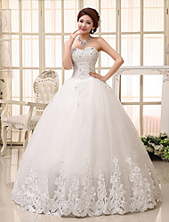 Ball Gown Wedding Dress Floor-length Sweetheart Lace