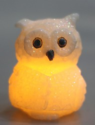 Home Impressions™ Real Wax, Owl Shaped Flameless Led Candle with Glitter Powder,Rose Scent and Timer