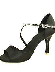 sandalias de las mujeres personalizables latino satén zapatos de baile (más colores)