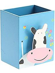 деревянный мультфильм контейнер ручки с доски игрушек музыкальных шкатулок (случайным образом)