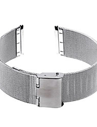 22mm Unisex Mesh Steel Watch Band Strap Bracelet Buckle Silver Fashion Cool Watch Unique Watch