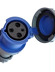 TOWE IPS-S363 Waterproof Industrial Connector Female Industrial Socket 220V-250V 63A 2P+E IP67 6H 6-16mm²