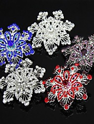 5.8CM Bridal Beautifull Flower Floral Crystal Rhinestone Fancy Special Costume Brooch Pin More Colors