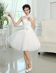 A-line/Princess High Neck Short Mini Bridesmaid Dress