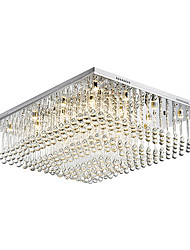 L 68cm Flush Mount,12 Light Modern Metal