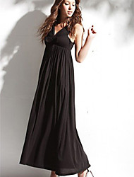 Ankle-length Silk Bridesmaid Dress - Black Ball Gown Sweetheart