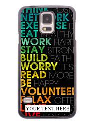 caja del teléfono personalizado - caso del metal del diseño colorido para i9600 Samsung Galaxy S5