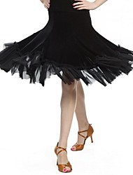 Latin Dance Skirts Women's Performance / Training Velvet Natural M:58-59 L:58-59 XL:58-59 XXL:58-59