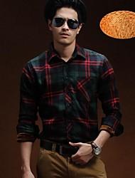 мужские Yi бен сплайсинга решетка с бархатной рубашке