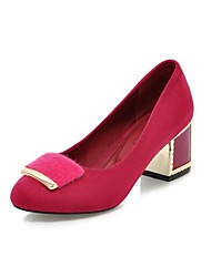Women's Shoes  Round Toe Chunky Heel Pumps with Buckle Shoes More Colors available