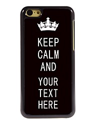Personalized Case Black Keep Calm Design Metal Case for iPhone 5C