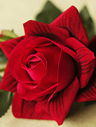 Dark Red Silk Feeling Rose