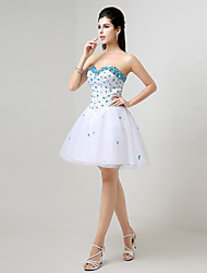 Homecoming A-line Sweetheart Knee-length Evening Dress