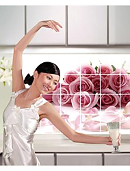Wall Stickers Wall Decals, Style Kitchen Oil Proof Bouquets Of Roses PVC Wall Stickers