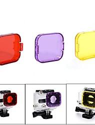 Acessórios para GoPro,Filtro DivePara-Câmara de Acção,Gopro Hero 2 Gopro Hero 3 GoPro Hero 5 Mergulho Plástico