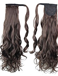 Excellent Quality Synthetic Clip In Ponytail 26 Inch Long Black Curly Hairpiece