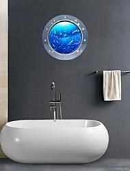 3D Wall Stickers Wall Decals, Marine Organisms Bathroom Decor Mural PVC Wall Stickers