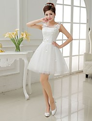 Short/Mini Bridesmaid Dress - Ivory A-line / Princess Strapless