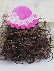 Girl's Pretty Hat Wig Hair Clip(Random Color)