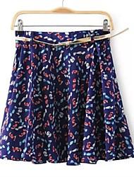 Women's Fashion Candy Printed Chiffon Skirt