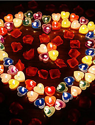 Valentine's Day Gifts Heart-shaped Candles One Piece(Random Colors)