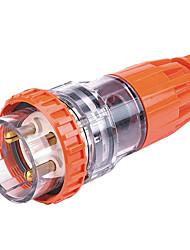 étanche connecteur mâle industrielle prise industrielle CE 250v 20a 2p + e de hennepps IP67 6h 4-6mm²
